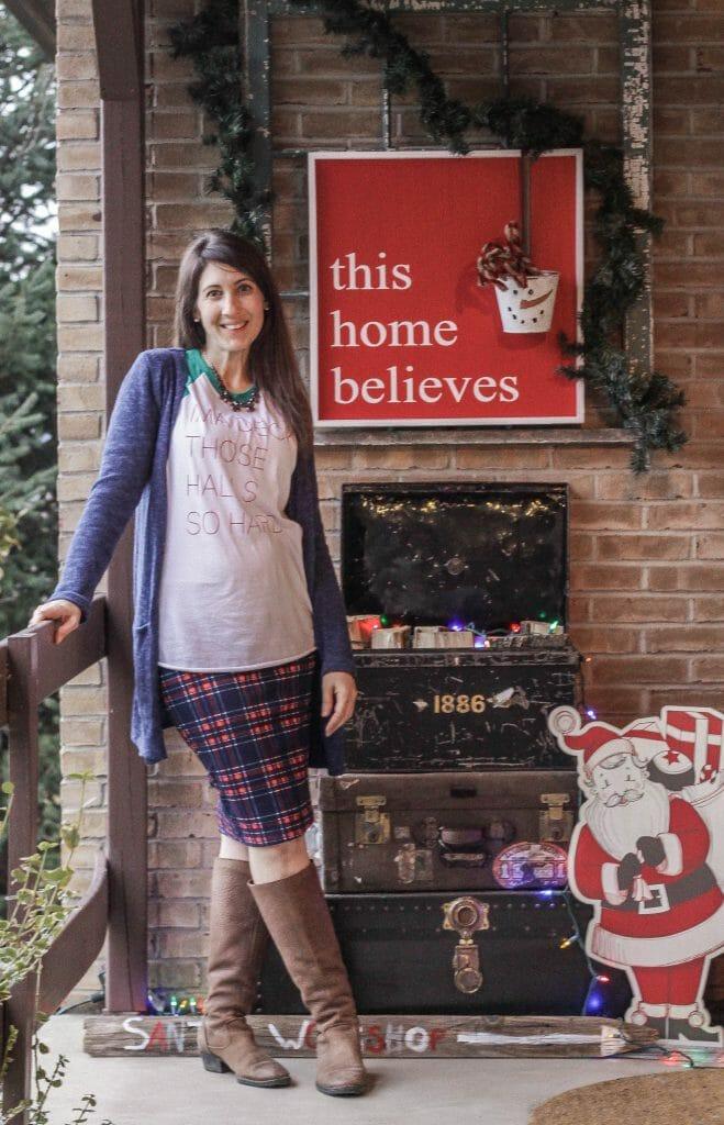 Christmas Porch Welcome- Awesome funny Christmas tee