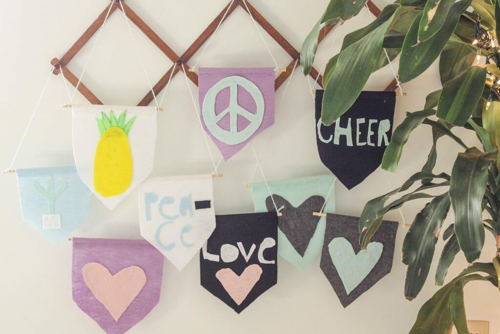 DIY Kids Last Minute Gift Idea- Felt Flag
