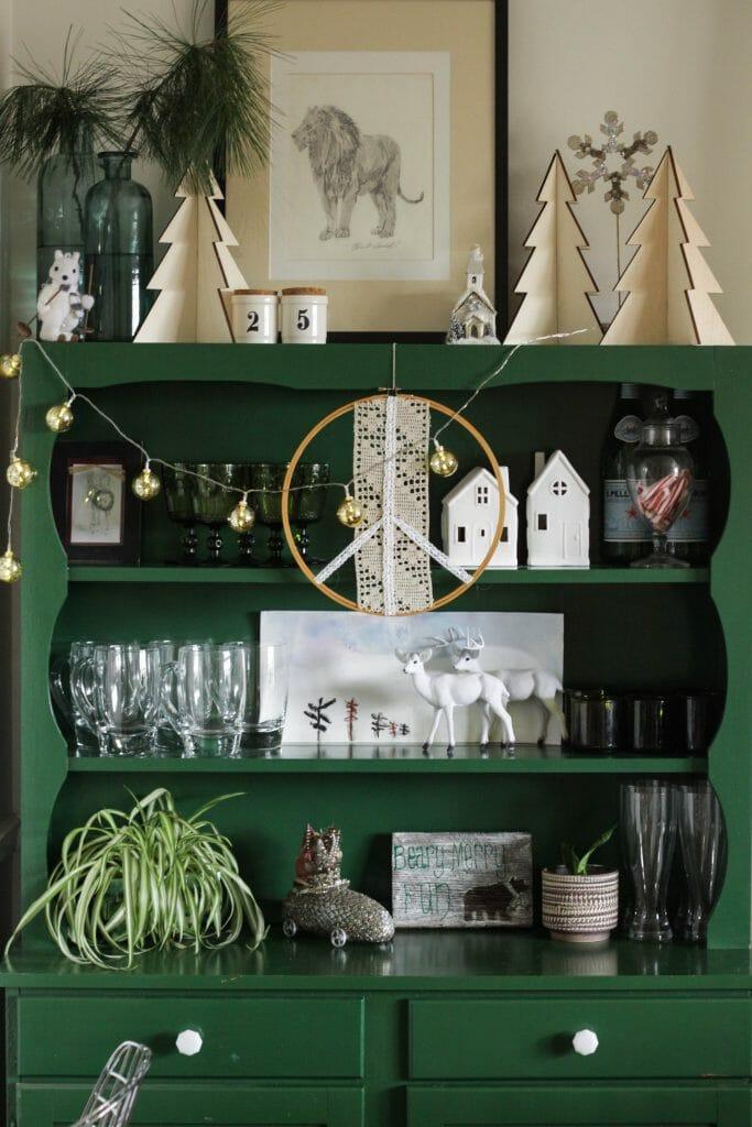 Styled Christmas Shelves