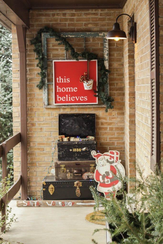 Christmas Porch Entry- Farmhouse Santa