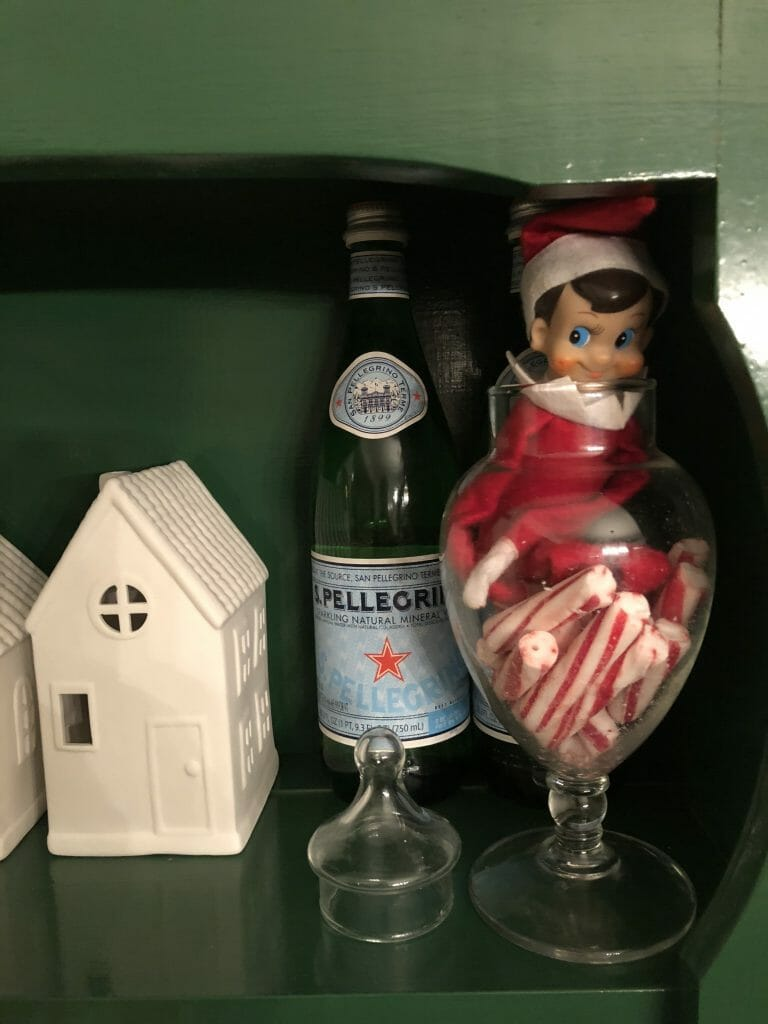 Elf in candy jar