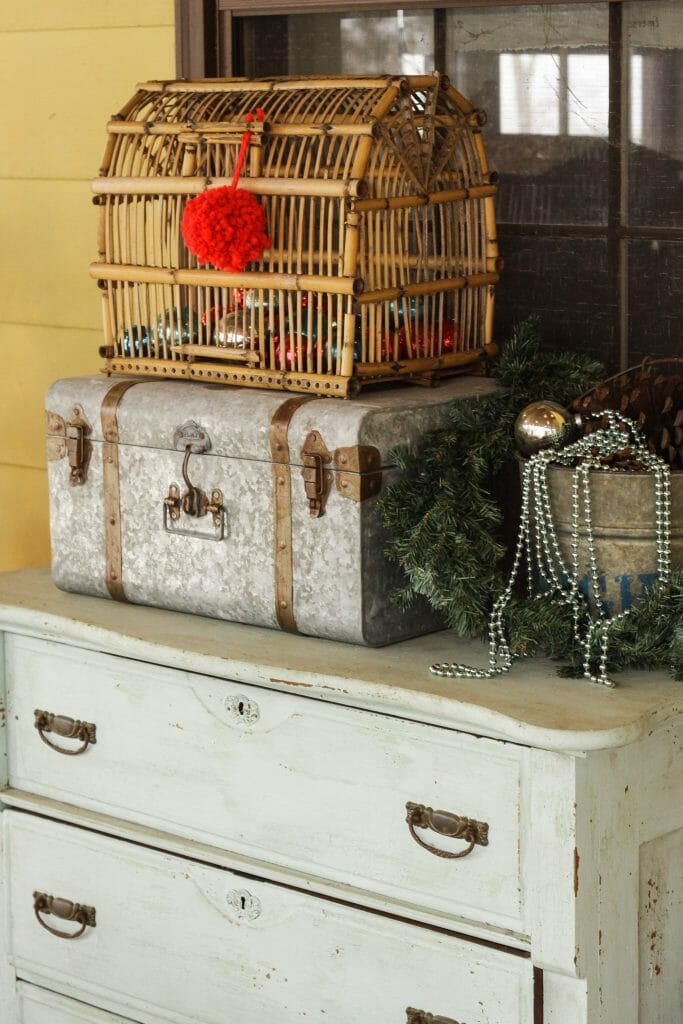 Christmas Porch Dresser Farmhouse Vignette