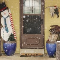 Eclectic Christmas Home Tour Part 3: Cozy Snowy Porch & Chic
