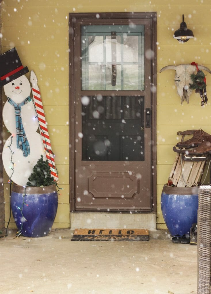 Snowy Magical Frosty inspired Christmas porch entry