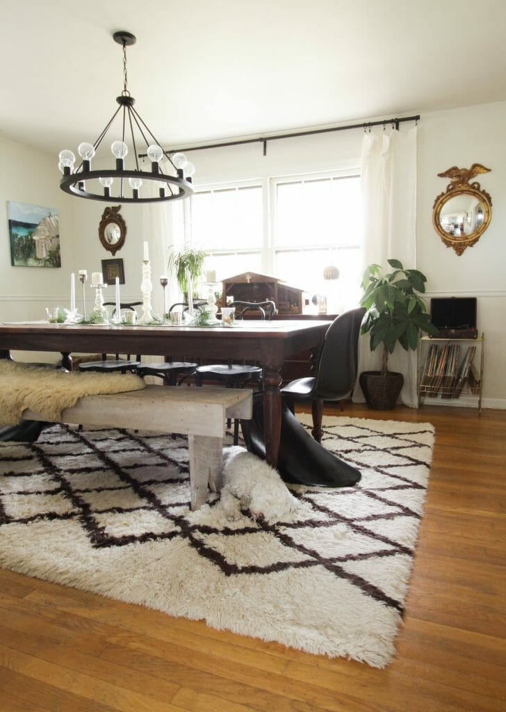 Vintage Modern Eclectic Christmas Dining Room