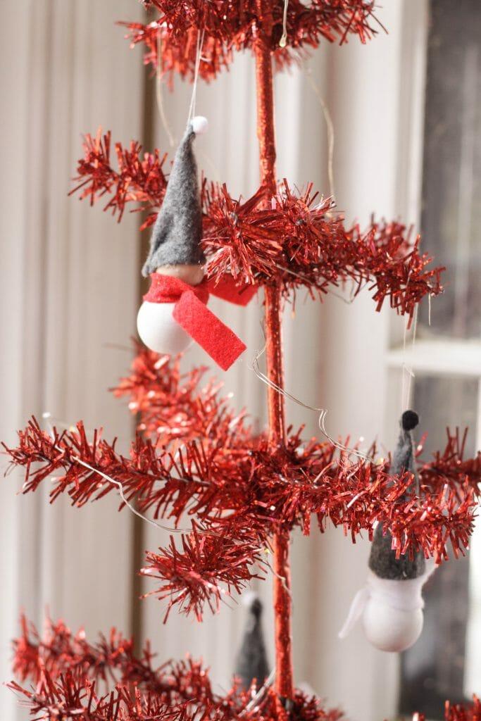 DIY Felt & Wood Gnome Ornaments