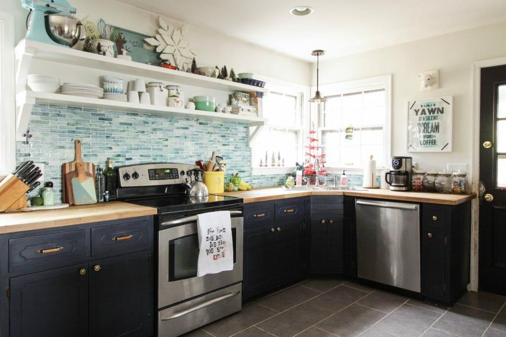 Eclectic Modern Farmhouse Christmas Kitchen