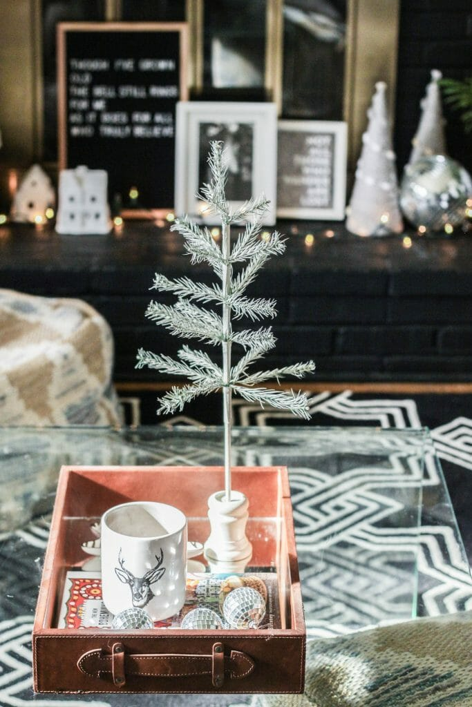 Simplpe Christmas Coffee table styling