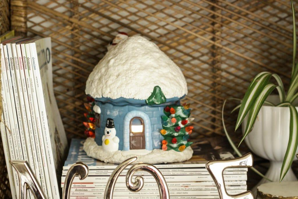Vintage Ceramic Snow House
