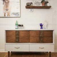 Furniture Makeover: Gray & Wood Midcentury Dresser