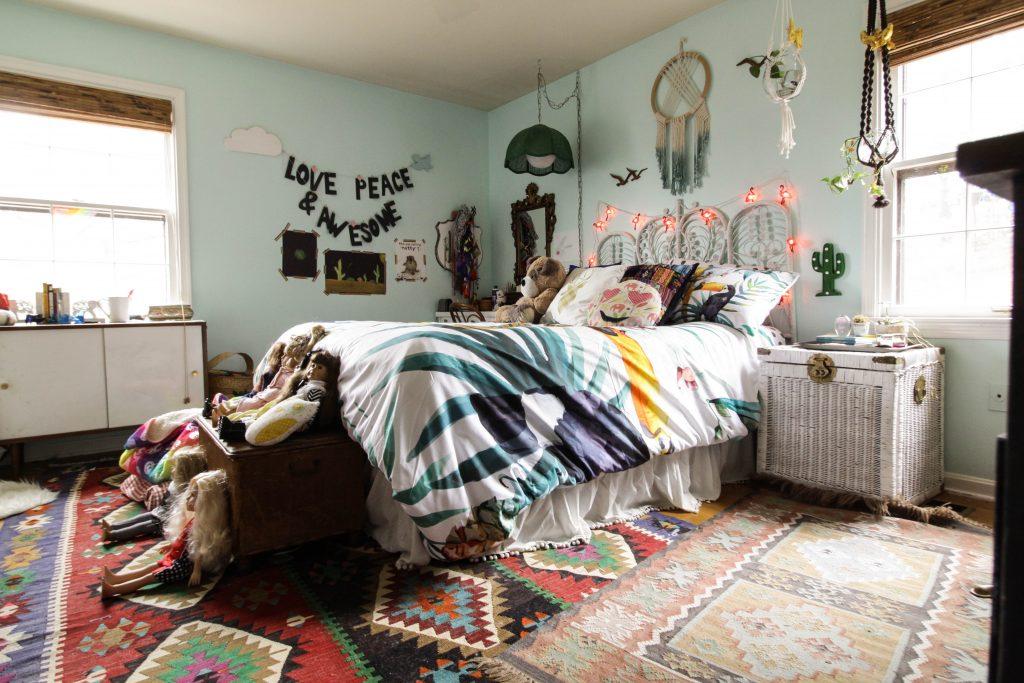 Maximalist Boho Girl's Room
