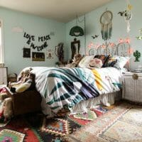 Bohemian Eclectic Girl's Room One Year Later: Embracing(ish