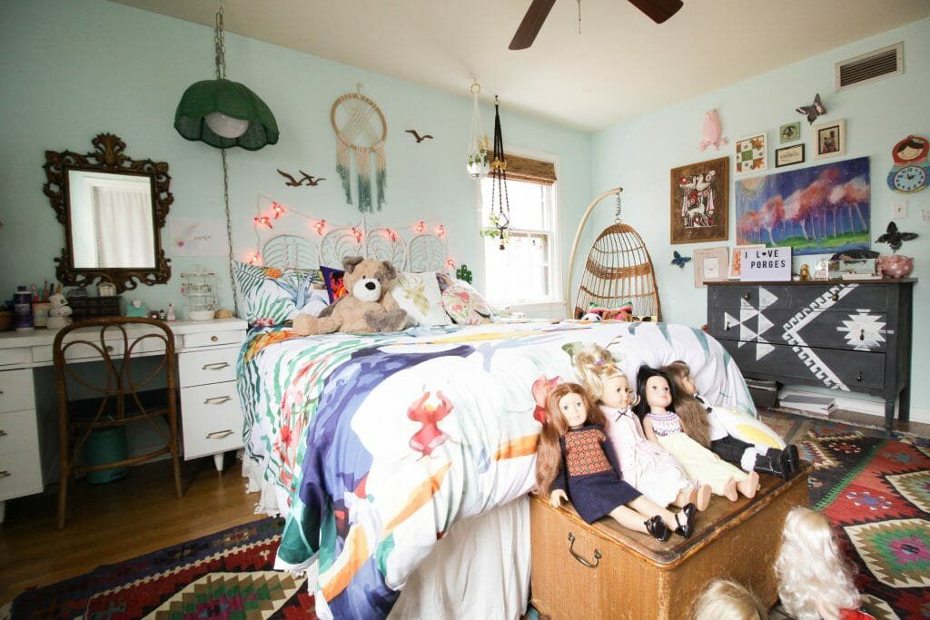 maximalist bohemian girl's bedroom