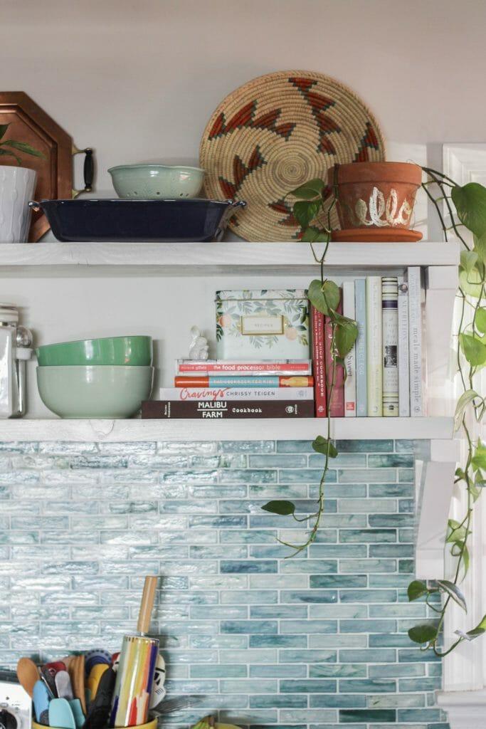 Kitchen Shelf Styling- Open Shelving