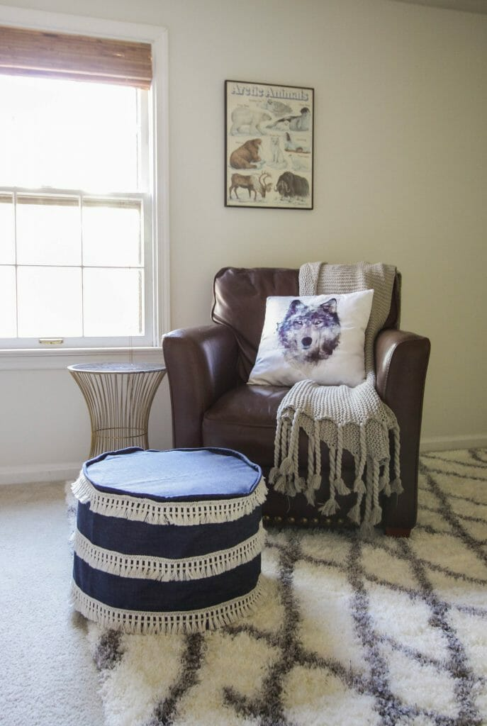 DIY sew a slipcover for a pouf