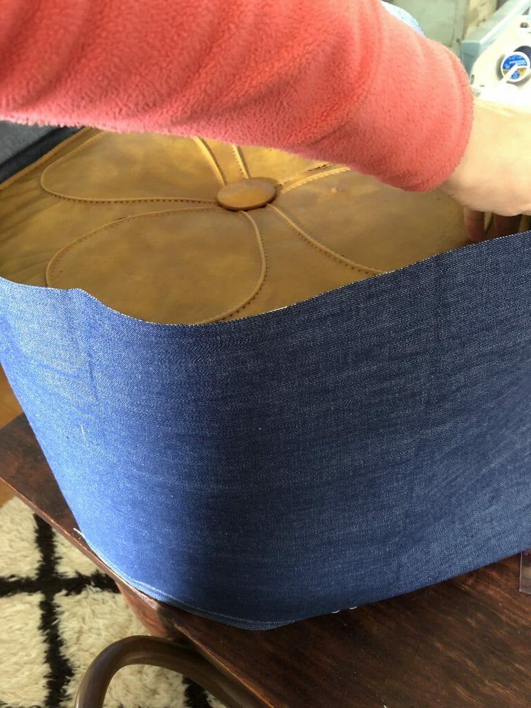Making an ottoman slipcover