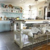 Eclectic Spring Dining Room & Kitchen Tour Filled with Blues