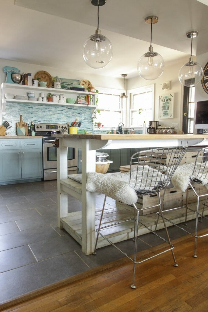 Aqua Modern Farmhouse Kitchen