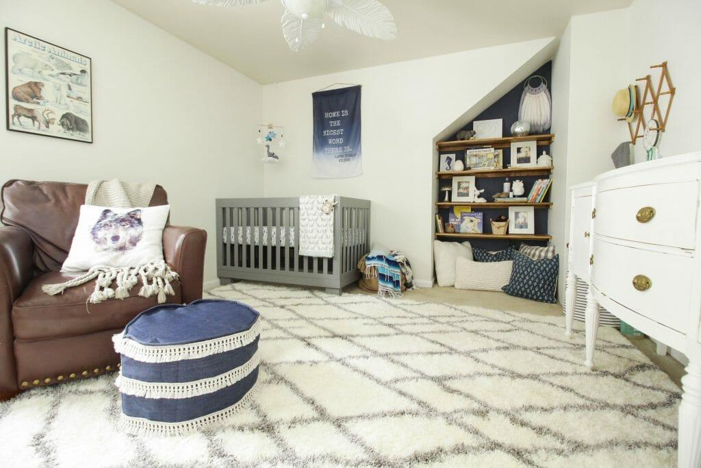 Modern Bohemian Serene baby Boy Nursery