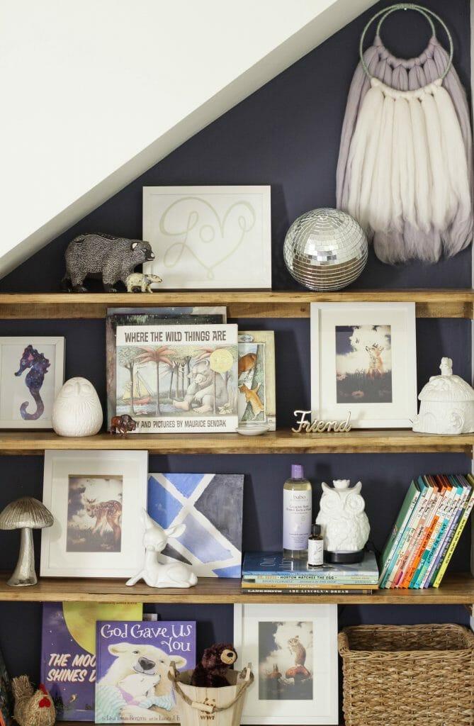 Nursery Bookshelf Nook