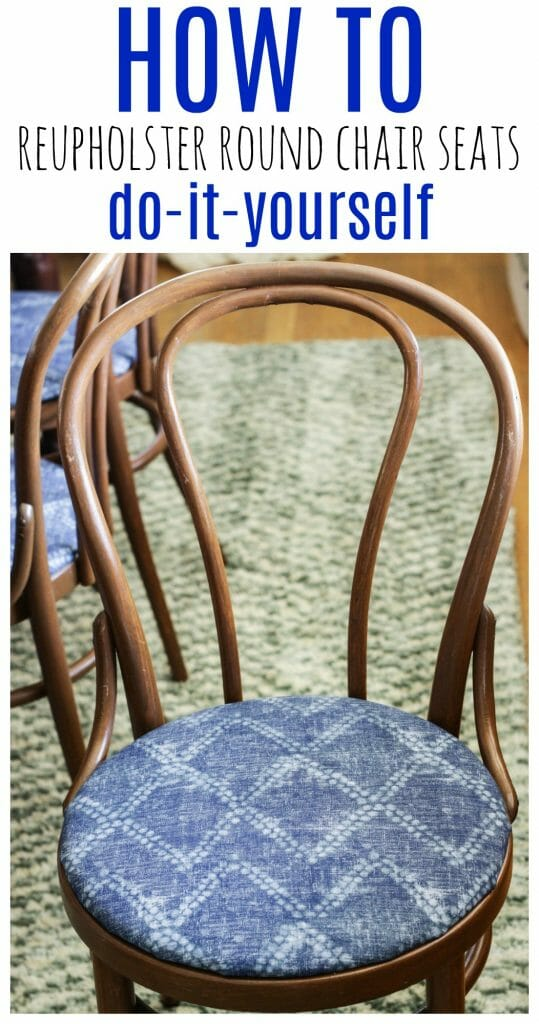 How to reupholster round seats- do it yourself