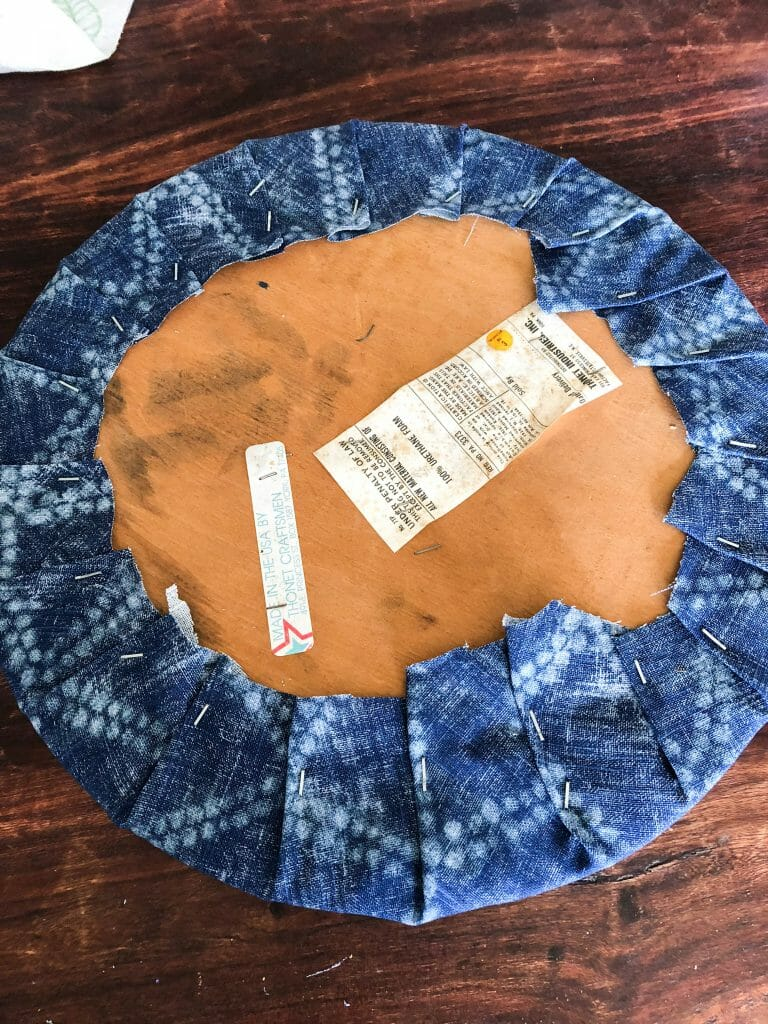 Recovered seat cushion bottom