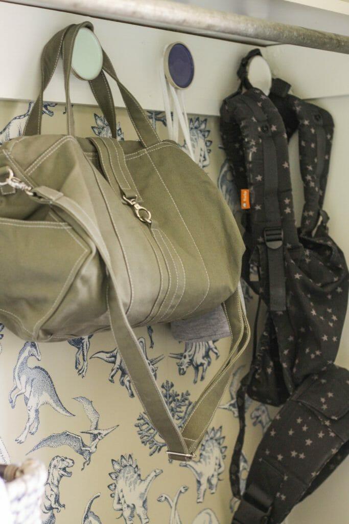 Nursery Hooks in Closet