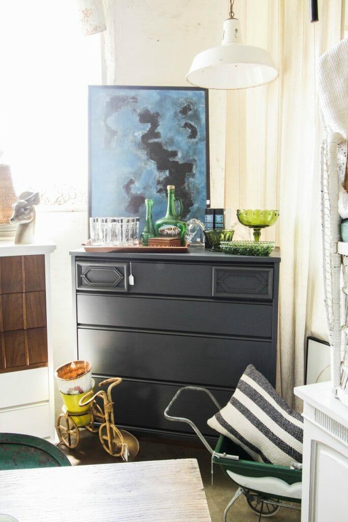 Charcoal Gray MCM Dresser