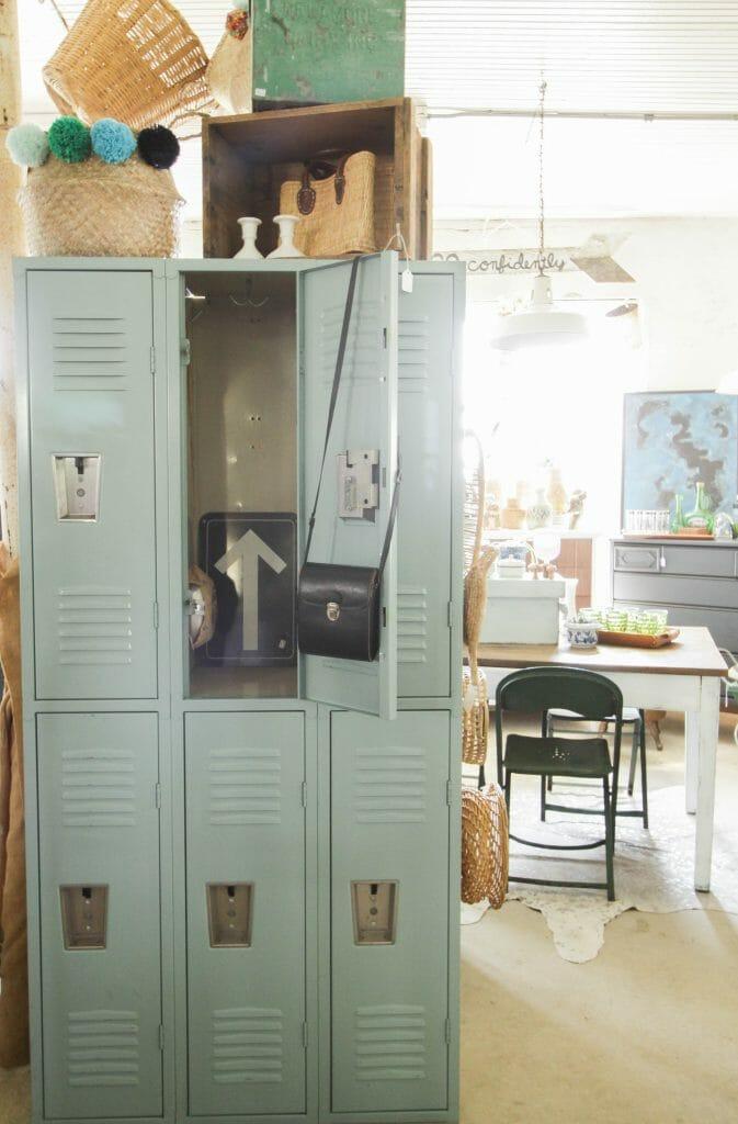Vintage lockers at Sweet Clover