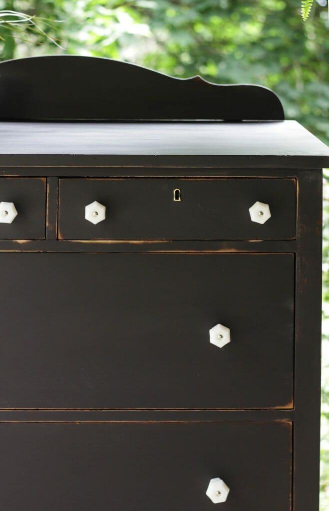 Black Distressed Dresser