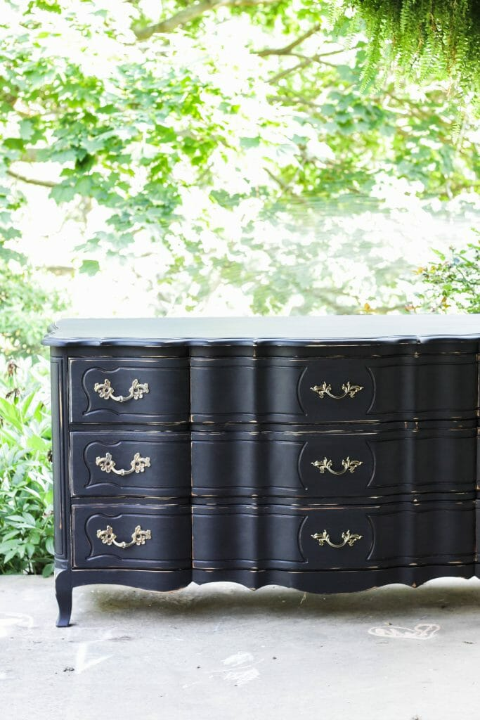 Glam Black French Dresser Makeover