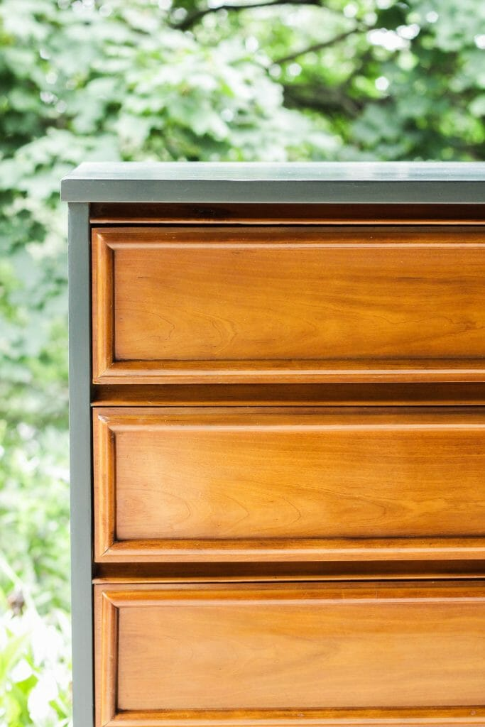 Teal and Wood Dresser Makeover DIY