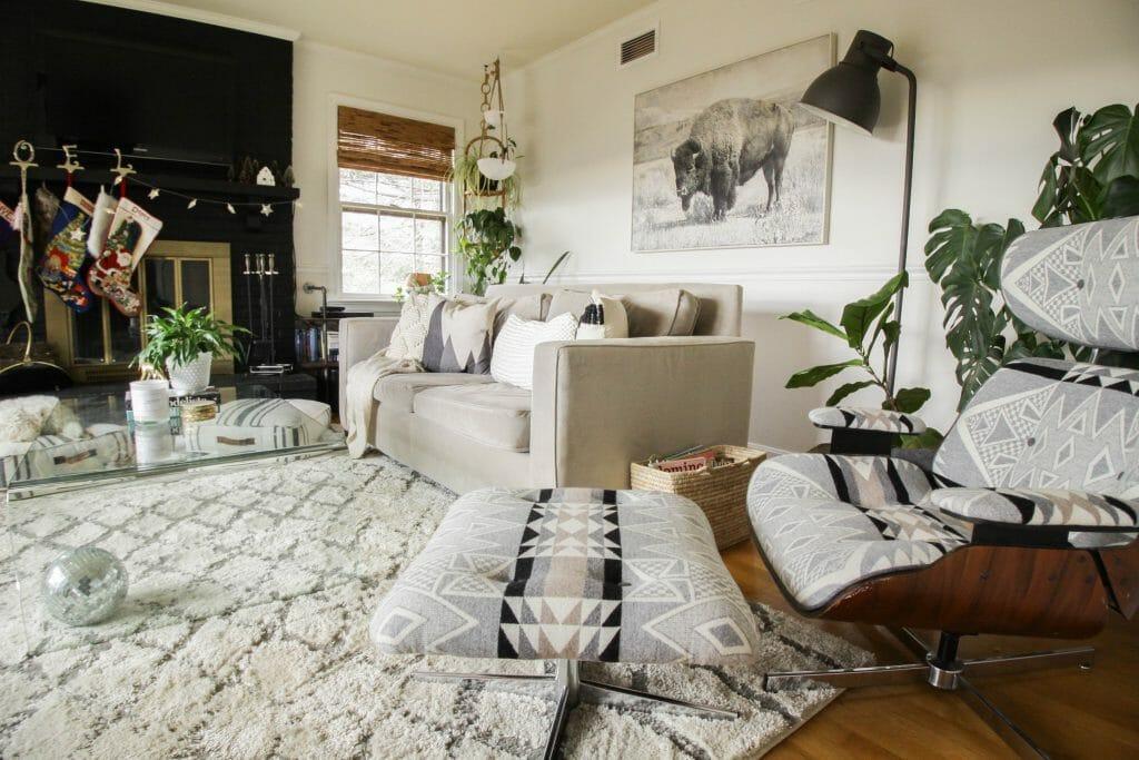 Modern boho living room