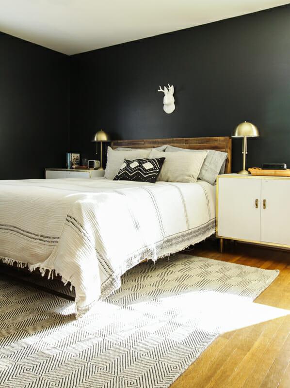 Moody Modern Boho Master Bedroom Progress Cassie Bustamante