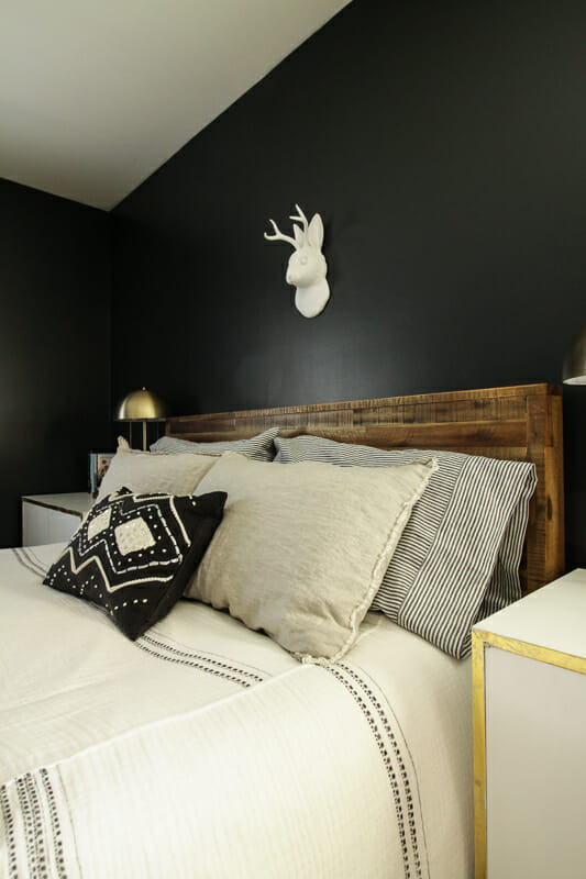 Moody Black Master bedroom