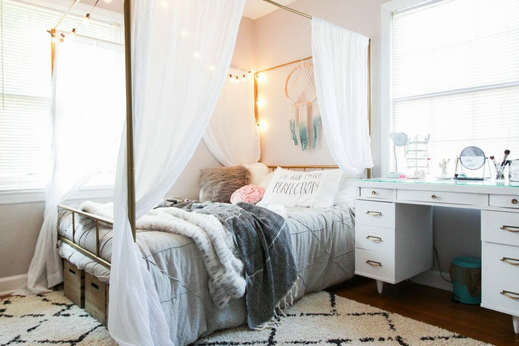 Teen Neutral Boho Bedroom