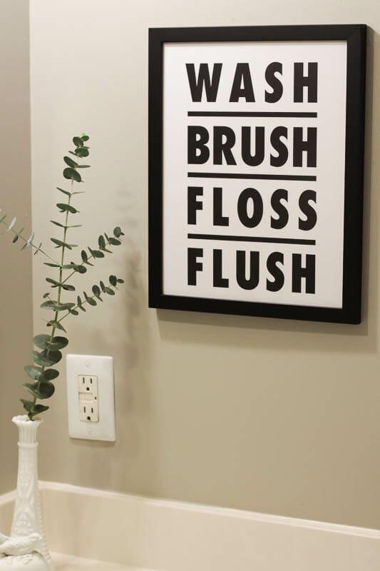 Wash Brush Floss Flush print