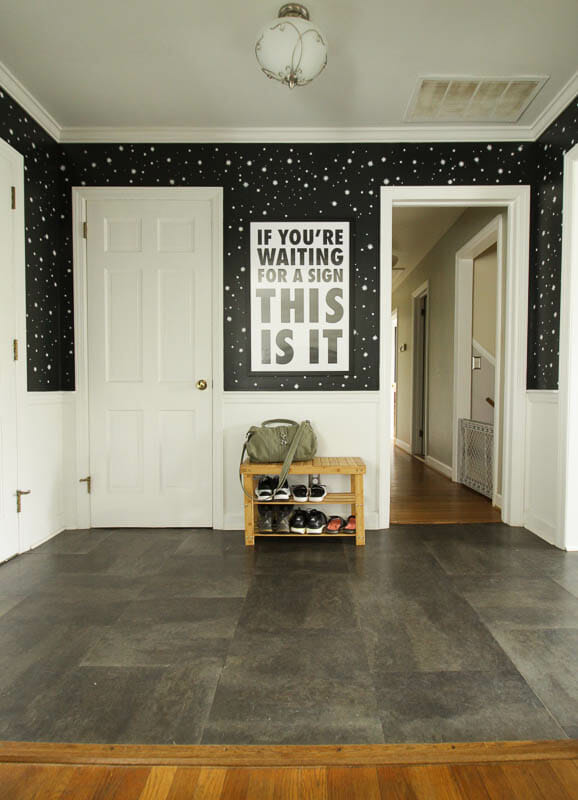 DIY Stenciled Entry