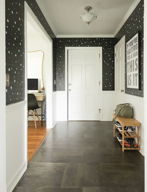 Stenciled Entry- DIY Stars