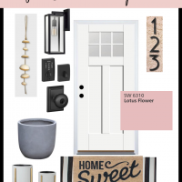Budget Find Friday: Finds for a Modern Small Front Porch
