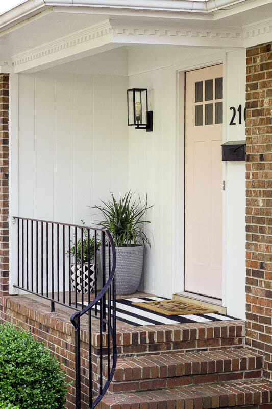 Small Porch Budget Modern Makeover