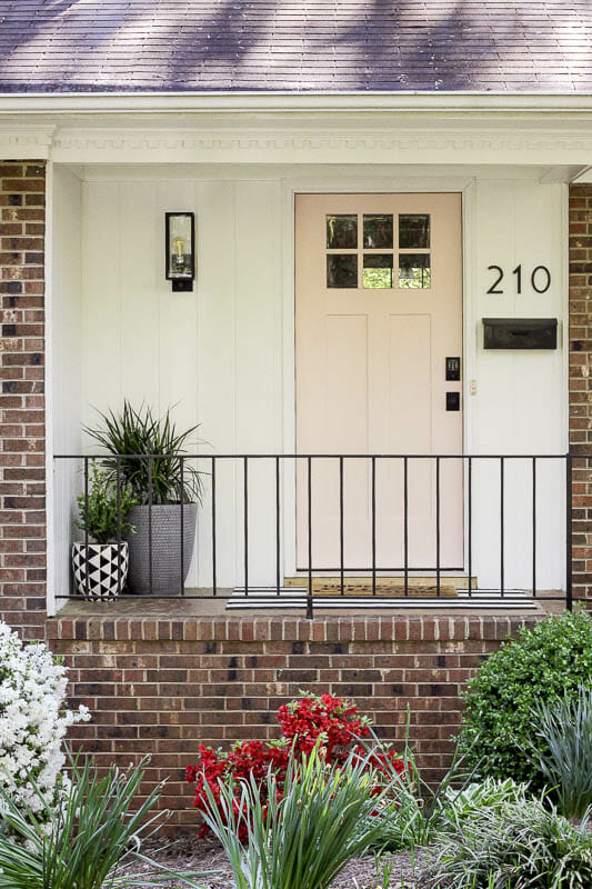 Budget Small Porch Modern Makeover