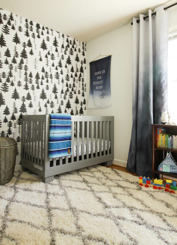 Perfect white wall paint; gender neutral nursery