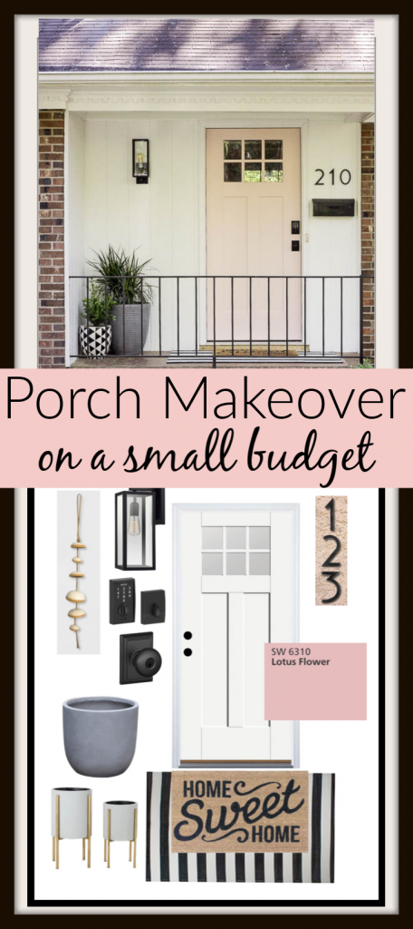 Modern Small Porch Makeover on a budget