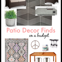 Budget Find Friday: Patio Decor & Plans