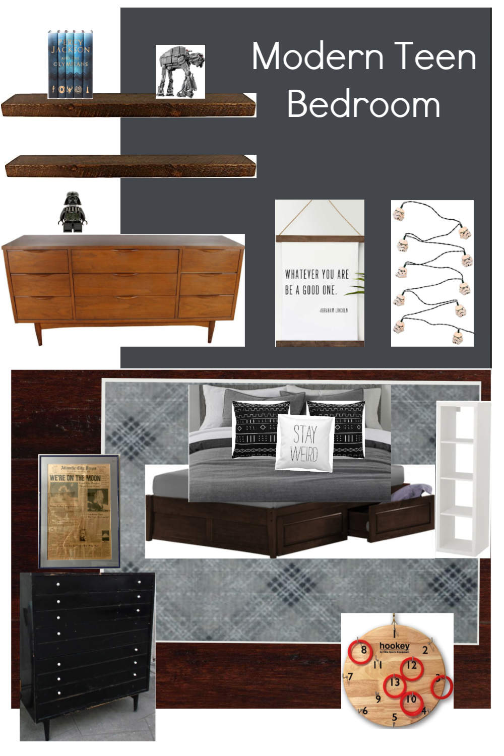 Modern teen boy bedroom plans - Cassie Bustamante