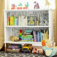 Furniture Makeover: Mud Cloth Painted Bookcase