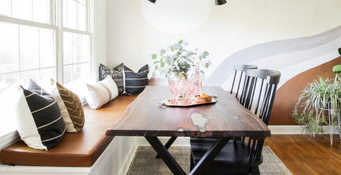 Earthy California Mod Dining Room- Fall 2019 One Room Challenge Reveal