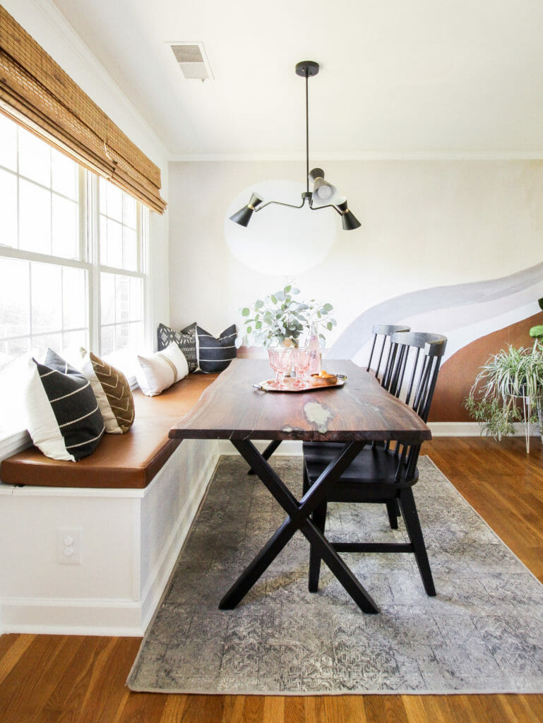 Modern Boho Dining Nook with Banquette