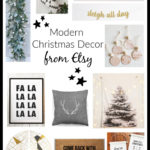 Etsy Modern Christmas Decor Finds